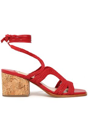 PALOMA BARCELÓ Woven leather and cork sandals