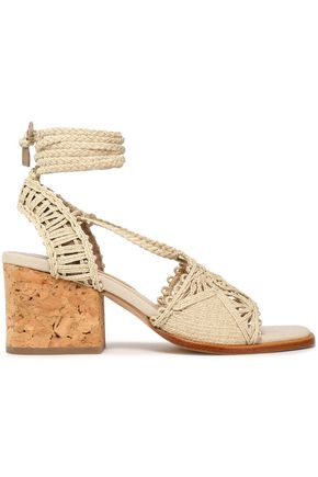 PALOMA BARCELÓ Woven jute and cork sandals