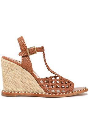 PALOMA BARCELÓ Woven leather espadrille sandals