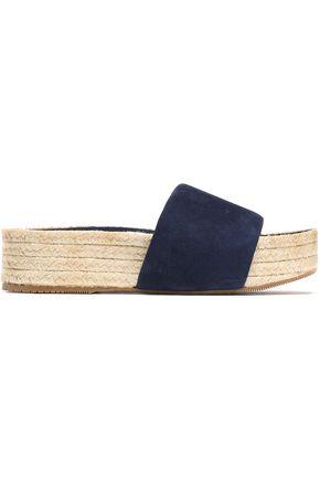 PALOMA BARCELÓ Suede platform espadrille sandals