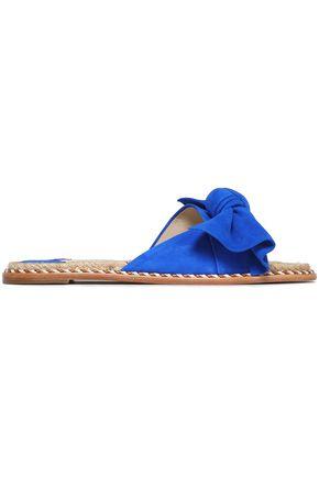 PALOMA BARCELÓ Bow-embellished suede slides