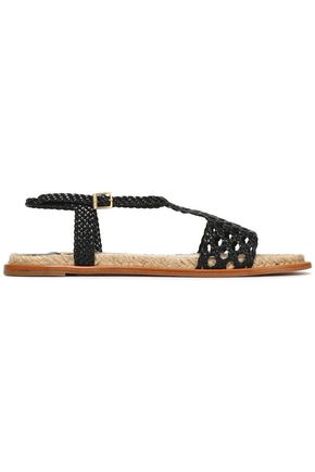PALOMA BARCELÓ Cutout braided leather sandals