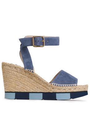 PALOMA BARCELÓ Suede wedge platform sandals