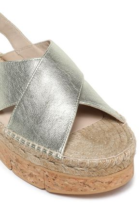 PALOMA BARCELÓ Metallic leather platform sandals