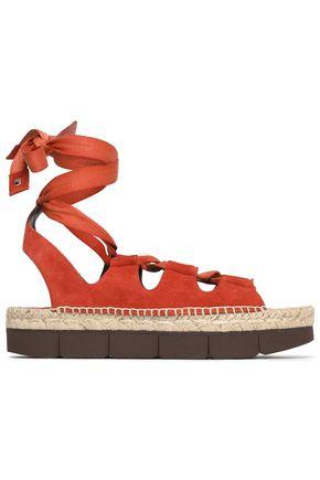PALOMA BARCELÓ Lace-up suede platform espadrille sandals