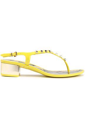 ROBERTO CAVALLI Studded plastic sandals