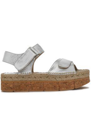 PALOMA BARCELÓ Metallic leather plaform sandals