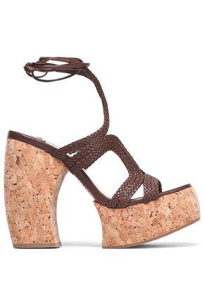 PALOMA BARCELÓ Braided leather platform sandals