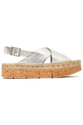 PALOMA BARCELÓ Metallic leather platform sandals