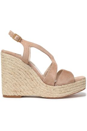 PALOMA BARCELÓ Suede wedge platform sandals