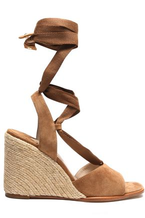 PALOMA BARCELÓ Lace-up suede wedge sandals