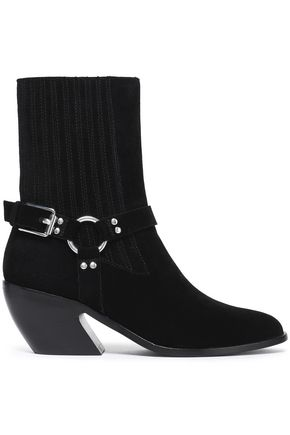 OPENING CEREMONY Buckled suede ankle boots