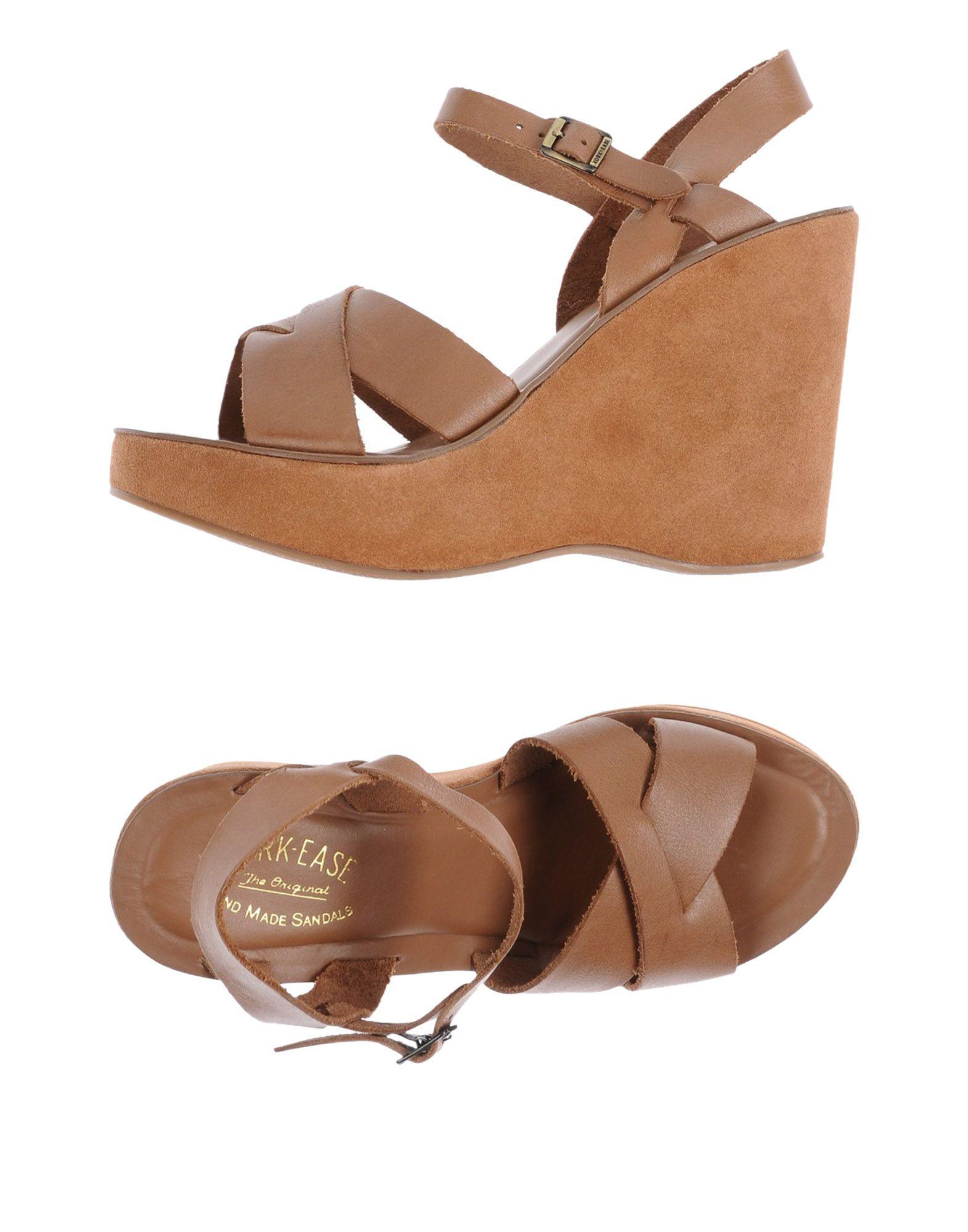 KORKEASE Sandals in Light Brown