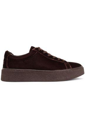 VINCE. Velvet platform sneakers