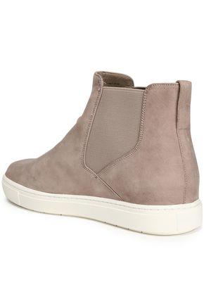 VINCE. Newlyn nubuck high-top slip-on sneakers