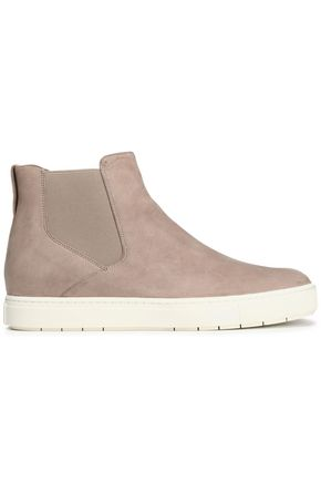 VINCE. Leather slip-on high-top sneakers