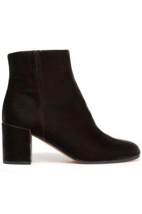 VINCE. Velvet ankle boots
