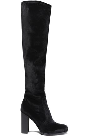 SAM EDELMAN Velvet over-the-knee boots