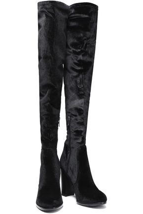 e2b8a14465053 ... SAM EDELMAN Velvet over-the-knee boots ...