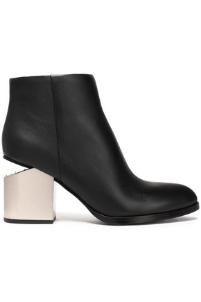 ALEXANDER WANG Two-tone leather ankle boots