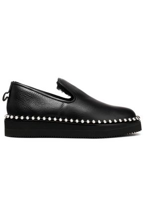 ALEXANDER WANG Tedi shearling-lined studded leather loafers