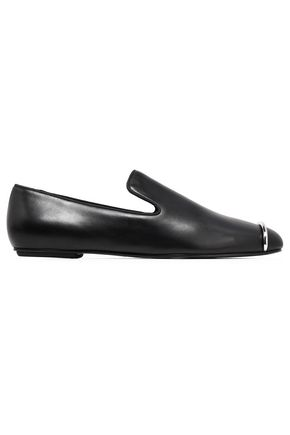 ALEXANDER WANG Embellished leather loafers