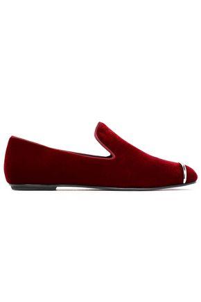ALEXANDER WANG Embellished velvet slippers