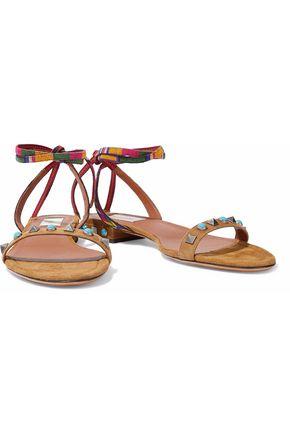 VALENTINO GARAVANI Stud-embellished suede sandals