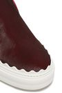 CHLOÉ Ivy leather-trimmed calf hair slip-on sneakers
