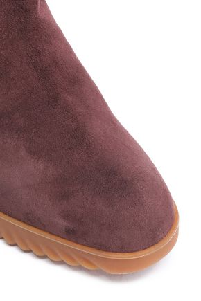 CHLOÉ Convertible suede wedge boots