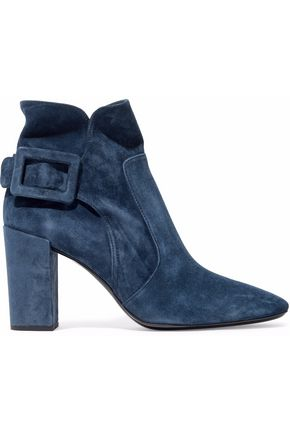 ROGER VIVIER Bottine Peppy buckled suede ankle boots