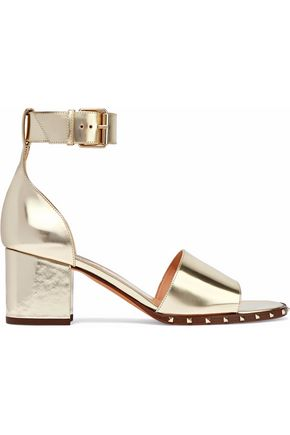 VALENTINO GARAVANI Soul Rockstud mirrored-leather sandals
