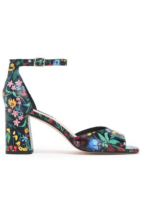 ALICE+OLIVIA Woman Chelsea Floral-print Leather Espadrille Sandals Multicolor Size 40 acJpa5