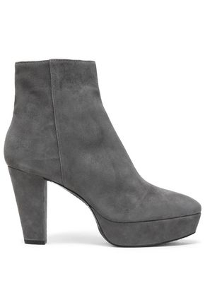ALICE + OLIVIA Suede platform ankle boots