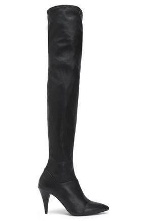 ALICE + OLIVIA Leather thigh boots