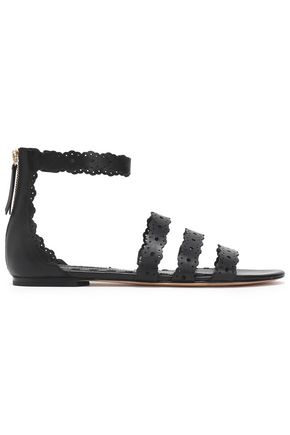 ALICE+OLIVIA Penny laser-cut leather sandals