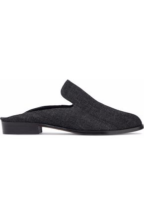 ROBERT CLERGERIE Alicet denim slippers