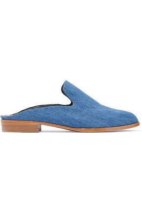 ROBERT CLERGERIE Alice denim slippers