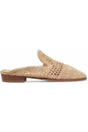 ROBERT CLERGERIE Antes raffia slippers