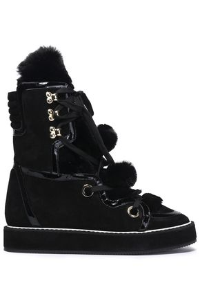 NICHOLAS KIRKWOOD Fur and suede ankle boots