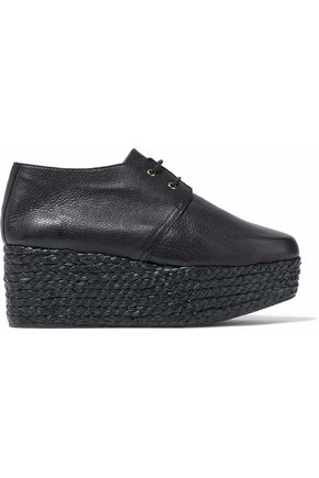 ROBERT CLERGERIE Patos leather espadrille platform brogues