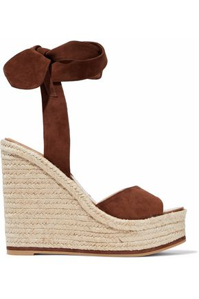 PAUL ANDREW Lulea Espa suede espadrille wedge sandals