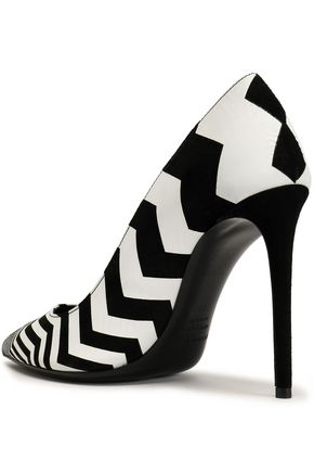 NICHOLAS KIRKWOOD Printed leather pumps