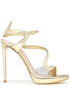 NICHOLAS KIRKWOOD Metallic leather and PVC platform sandals