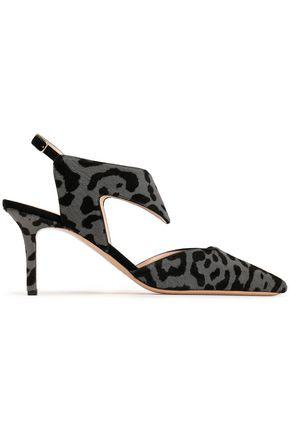 NICHOLAS KIRKWOOD Leopard-print calf hair slingback pumps