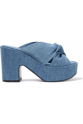ROBERT CLERGERIE Esther denim platform mules