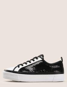 ARMANI EXCHANGE SEQUIN LOW-TOP SNEAKERS Sneakers Woman f