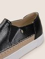 ARMANI EXCHANGE SNAKE-EMBOSSED SLIP-ON SNEAKERS SLIP-ON Woman a