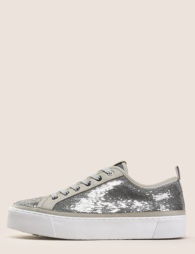SEQUIN LOW-TOP SNEAKERS