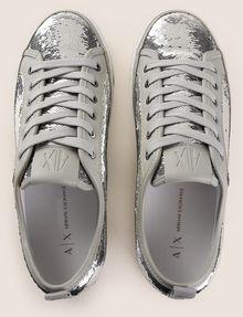 ARMANI EXCHANGE SEQUIN LOW-TOP SNEAKERS Sneakers Woman e